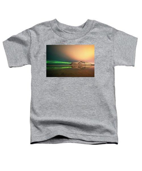 Northern Light In Lofoten Nordland 5 Toddler T-Shirt by Dubi Roman