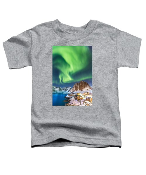 Northern Lights In Hamnoy Toddler T-Shirt