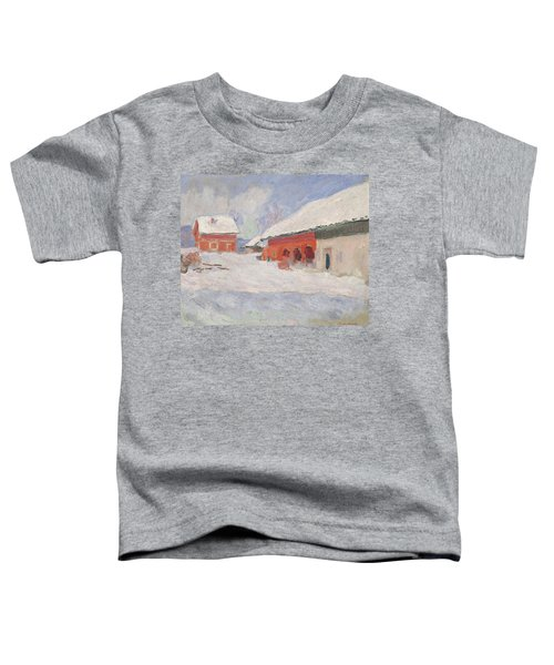 Norway, Red Houses At Bjornegaard, 1895 Toddler T-Shirt