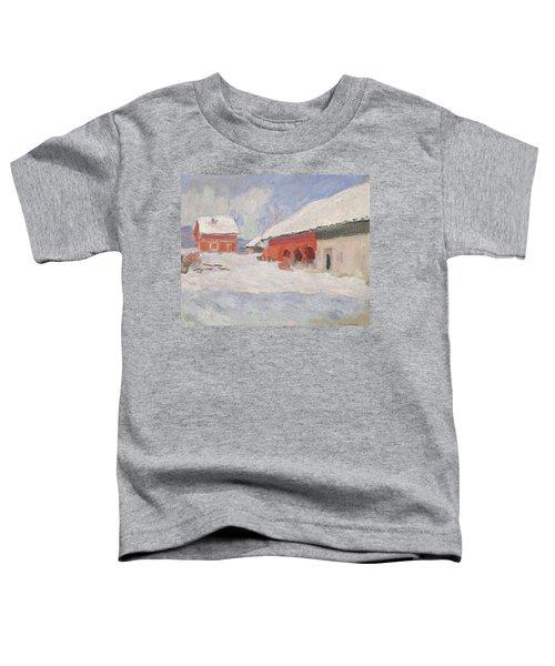 Norway, Red Houses At Bjornegaard, 1895 Toddler T-Shirt