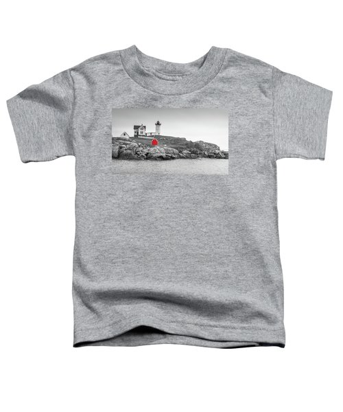 Nubble Lighthouse In Color And Black And White Toddler T-Shirt