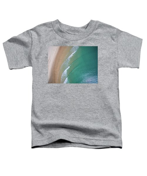 Ocean Waves Upon The Beach Toddler T-Shirt