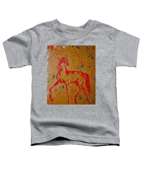 Ochre Horse Toddler T-Shirt