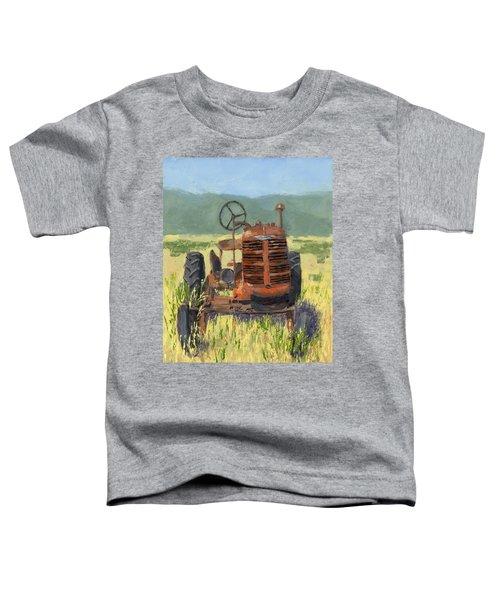 Offset High Crop Toddler T-Shirt