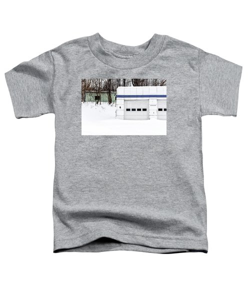 Old Art Deco Gas Station Woodstock Vermont Toddler T-Shirt