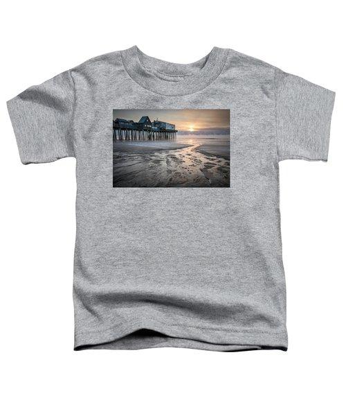 Old Orchard Beach Sea Smoke Sunrise Toddler T-Shirt
