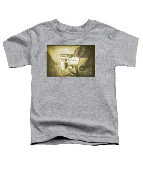 Old Paper Boy News Stand Toddler T-Shirt