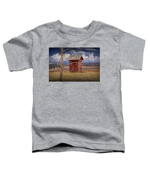Old Rustic Wooden Outhouse In West Michigan Toddler T-Shirt