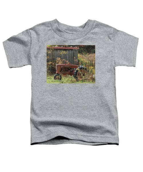 Old Tractor On The Farm. Toddler T-Shirt
