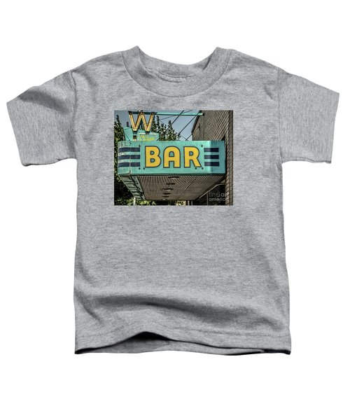 Old Vintage Bar Neon Sign Livingston Montana Toddler T-Shirt