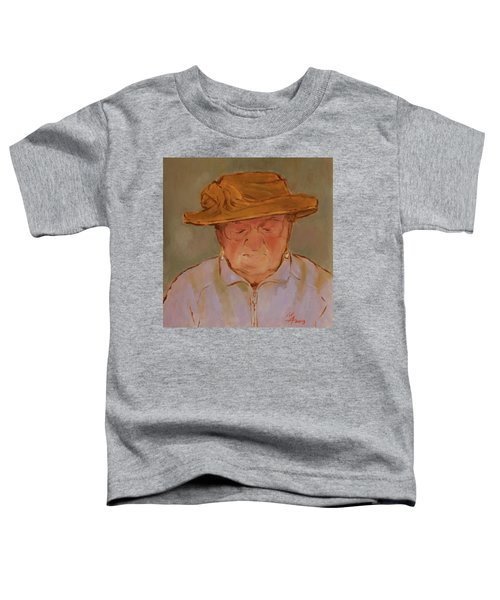 Old Woman With Yellow Hat Toddler T-Shirt