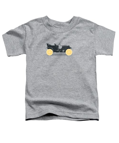 Oldtimer Historic Car With Lemon Wheels Toddler T-Shirt