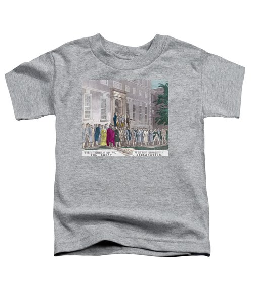 On July 4, 1776 Members Of The Second Toddler T-Shirt