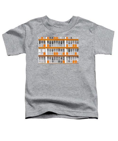 Orange Exterior Decoration Details Of Modern Flats Toddler T-Shirt