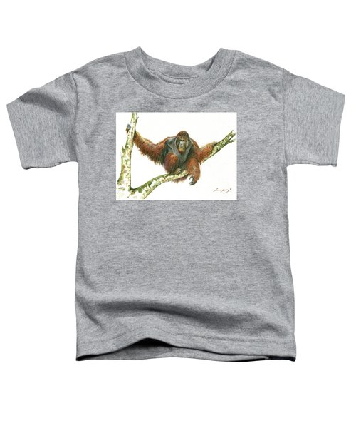 Orangutang Toddler T-Shirt by Juan Bosco