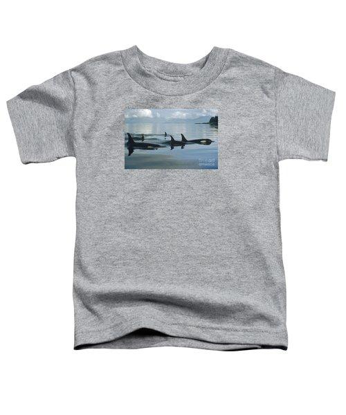 Orca Pod Johnstone Strait Canada Toddler T-Shirt