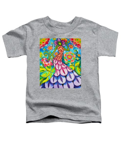 Orchid And Lilies In The Garden Series Caye Caulker Belize Toddler T-Shirt