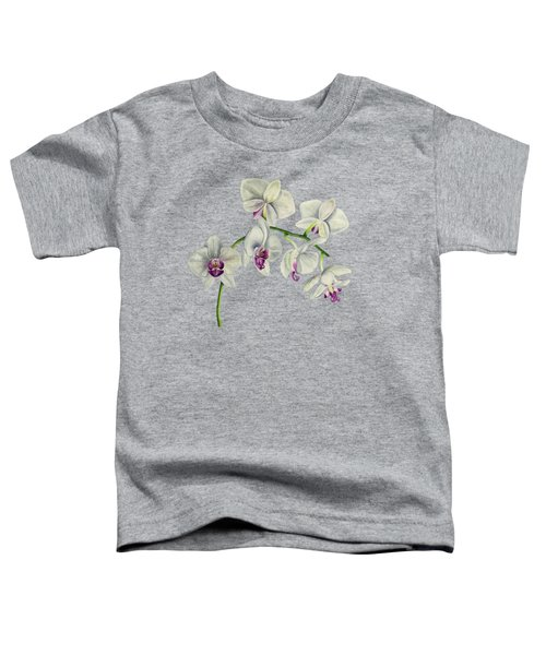 Orchid Watercolor Painting Toddler T-Shirt
