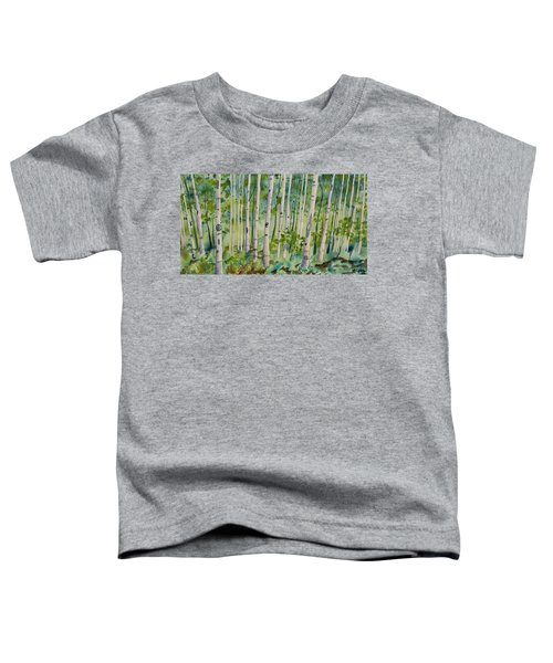 Original Watercolor - Summer Aspen Forest Toddler T-Shirt