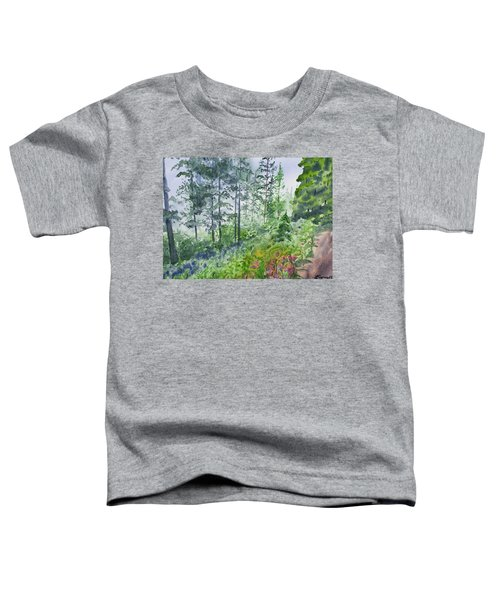 Original Watercolor - Summer Pine Forest Toddler T-Shirt