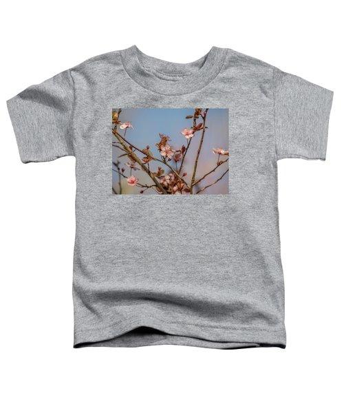 Purple Leaf Sandcherry Blossoms Toddler T-Shirt