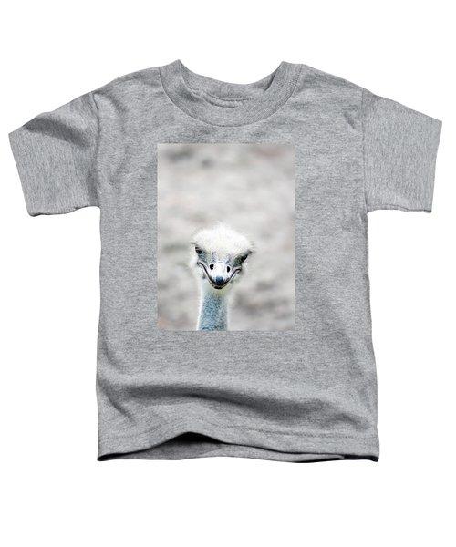Ostrich Toddler T-Shirt by Lauren Mancke