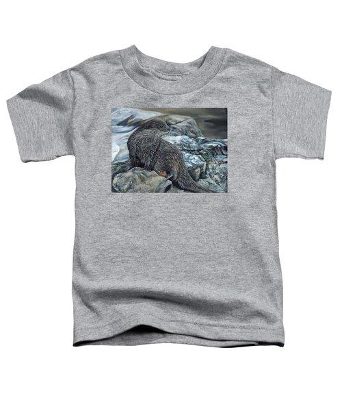 Otter On Rocks Toddler T-Shirt
