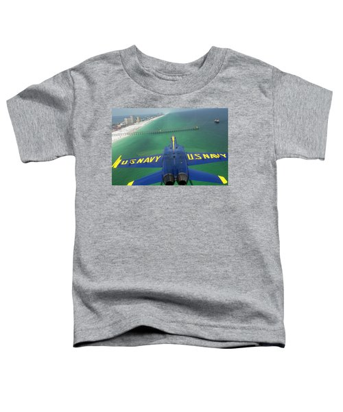 Toddler T-Shirt featuring the photograph Over Pensacola Beach by Specialist 3rd Class Andrew Johnson