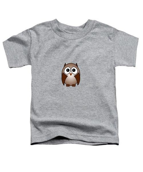 Owl - Birds - Art For Kids Toddler T-Shirt
