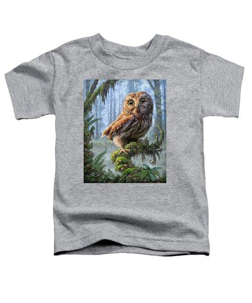Owl Perch Toddler T-Shirt