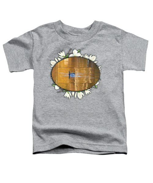 Painted Mallard On Magnolia Pond Toddler T-Shirt