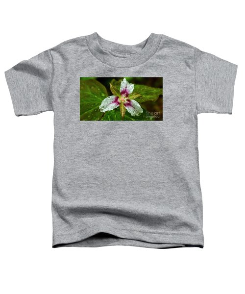 Painted Trillium With Raindrops Toddler T-Shirt