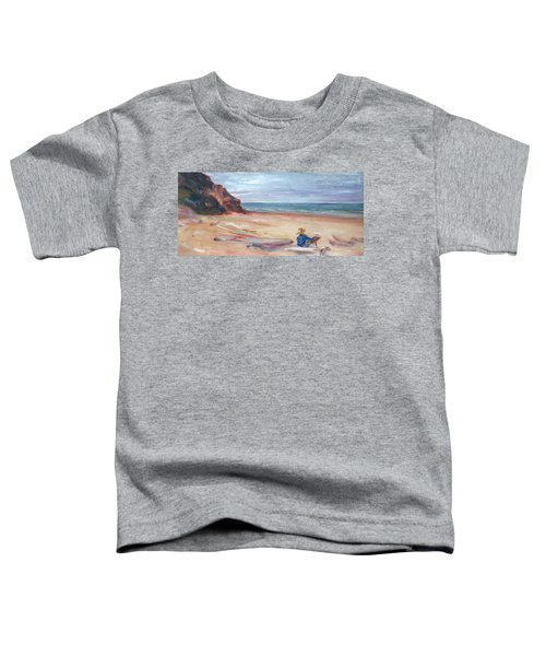 Painting The Coast - Scenic Landscape With Figure Toddler T-Shirt