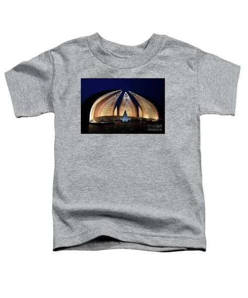 Pakistan Monument Illuminated At Night Islamabad Pakistan Toddler T-Shirt