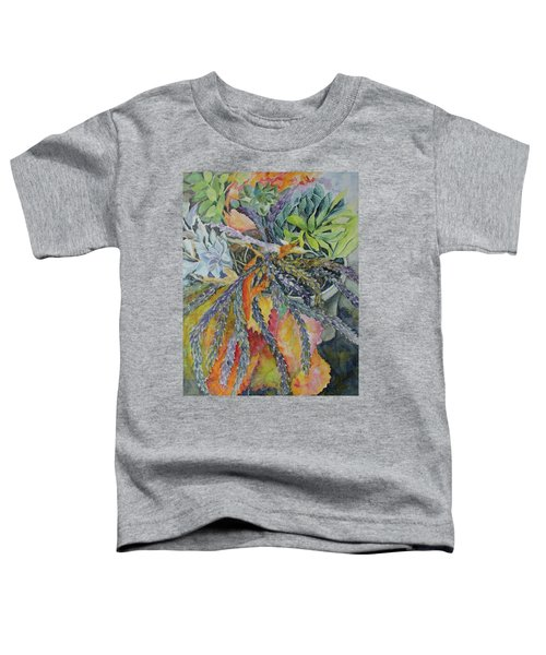 Toddler T-Shirt featuring the painting Palm Springs Cacti Garden by Joanne Smoley