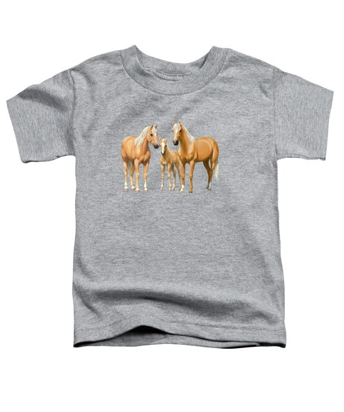 Palomino Horses In Winter Pasture Toddler T-Shirt