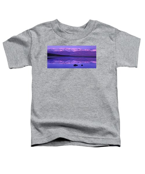 Panorama Badwater And The Panamint Range At Sunrise Death Valley Toddler T-Shirt