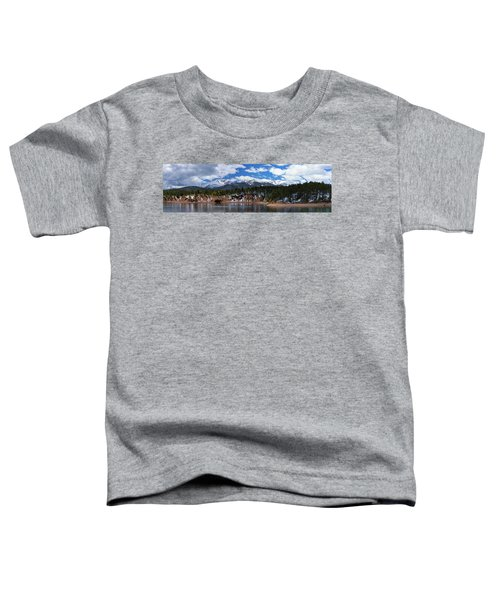 Panorama Of South Catamount Reservoir With Pike's Peak Covered I Toddler T-Shirt