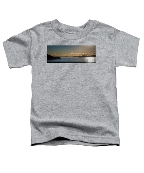 Panoramic View Of Downtown San Francisco Behind The Golden Gate  Toddler T-Shirt