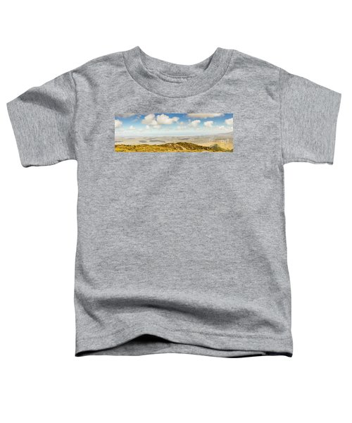 Panoramic Views From Mount Zeehan To Trial Harbour Toddler T-Shirt