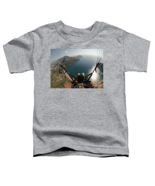 Paragliding Fly Above Laguna Seascape Toddler T-Shirt