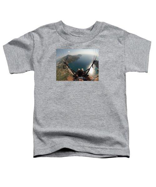 Paragliding Fly Above Laguna Seascape Toddler T-Shirt