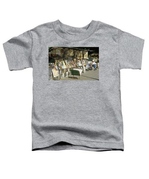 Paris Bookseller Stall Toddler T-Shirt