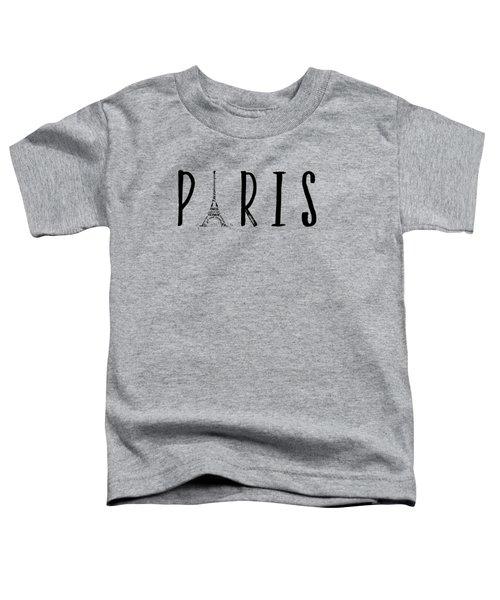 Paris Typography Panoramic Toddler T-Shirt by Melanie Viola