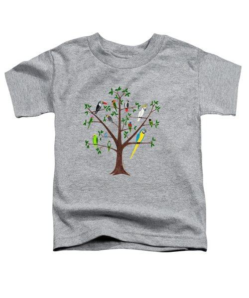 Parrot Tree Toddler T-Shirt by Rita Palmer