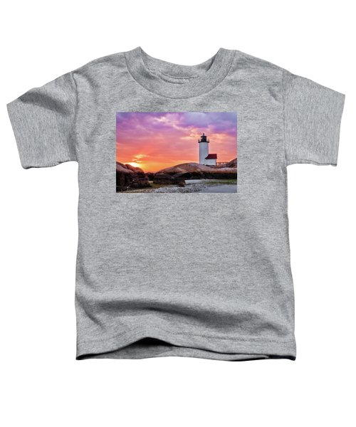 Pastel Sunset, Annisquam Lighthouse Toddler T-Shirt