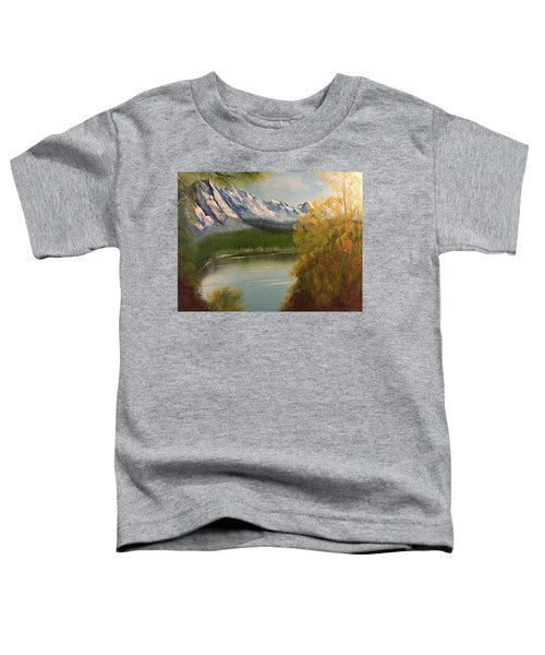 Peek-a-boo Mountain Toddler T-Shirt