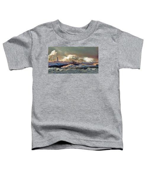 Peggy's Cove Winter Storm - Nova Scotia Toddler T-Shirt