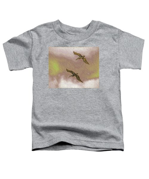 Pelicans On Cave Wall Toddler T-Shirt