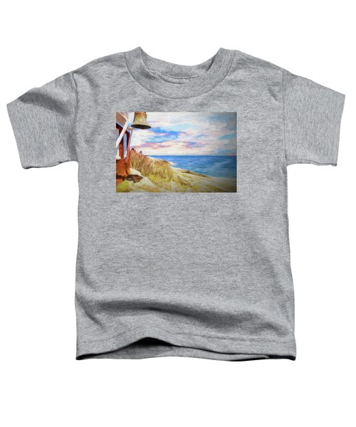 Pemaquid Lighthouse Bell On Maine Rocky Coast. Toddler T-Shirt